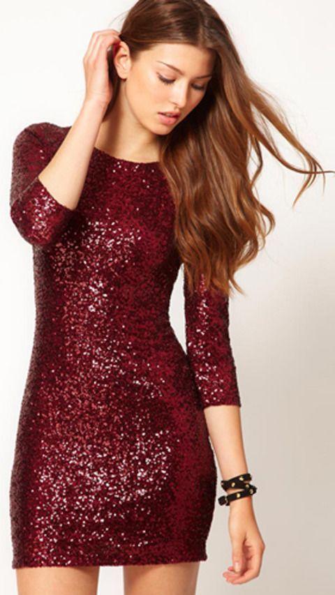 robe rouge pailletée