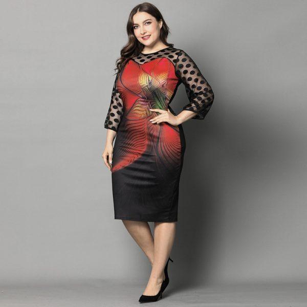 robe noire imprimée