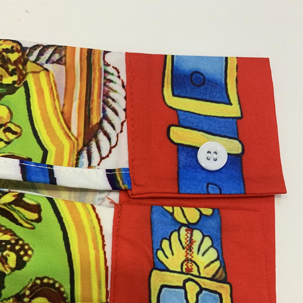 Tunique plissée mi-mollet taille géométrique
