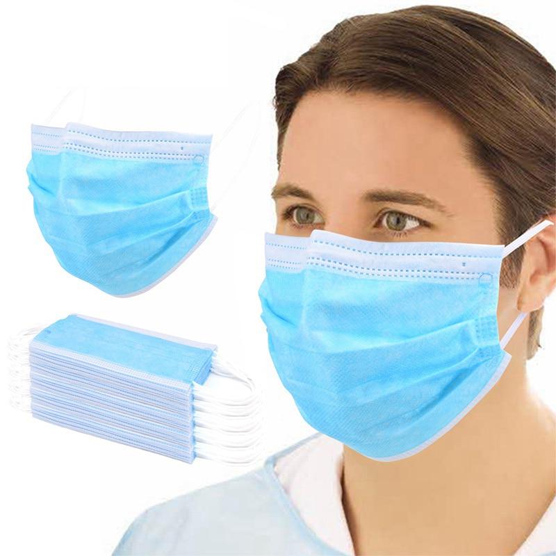 100 pièces masque de sécurité jetable 3 couche Non-tissé