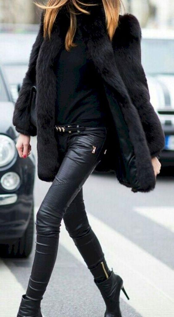 tenue d'hiver noire