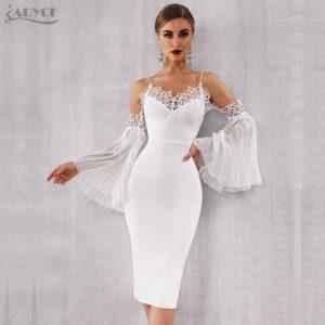 robe blanche élégante de soirée