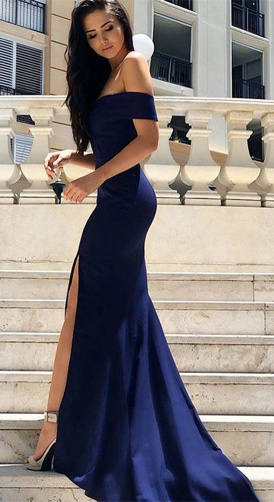 robe sirène bleu