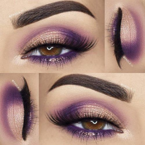maquillage violet des yeux