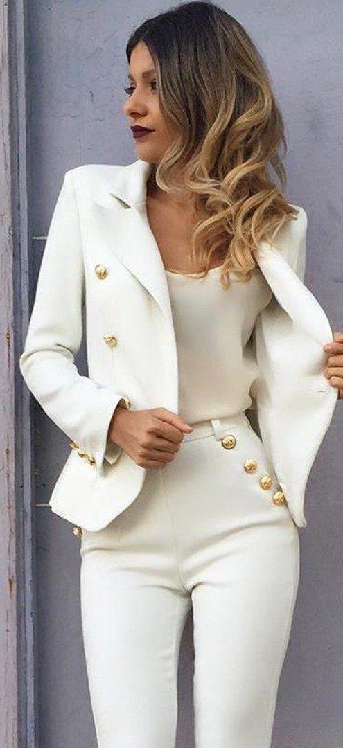 tailleur blanc