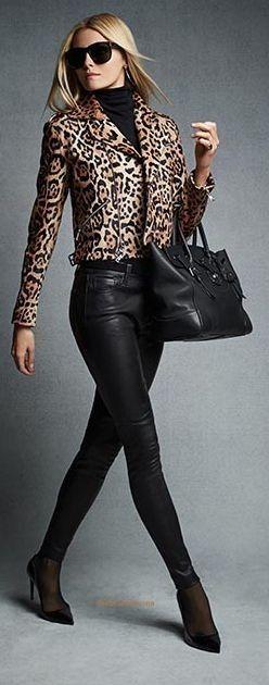 tenue cuir léopard