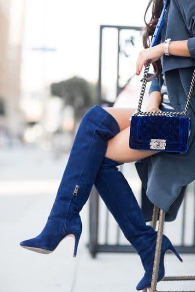 cuissardes bleues
