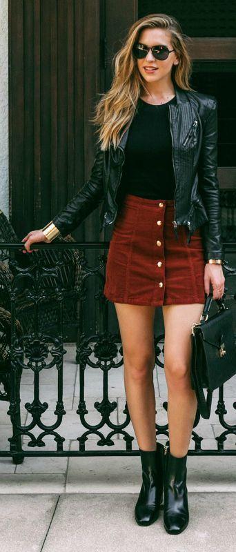 petite jupe avec veste
