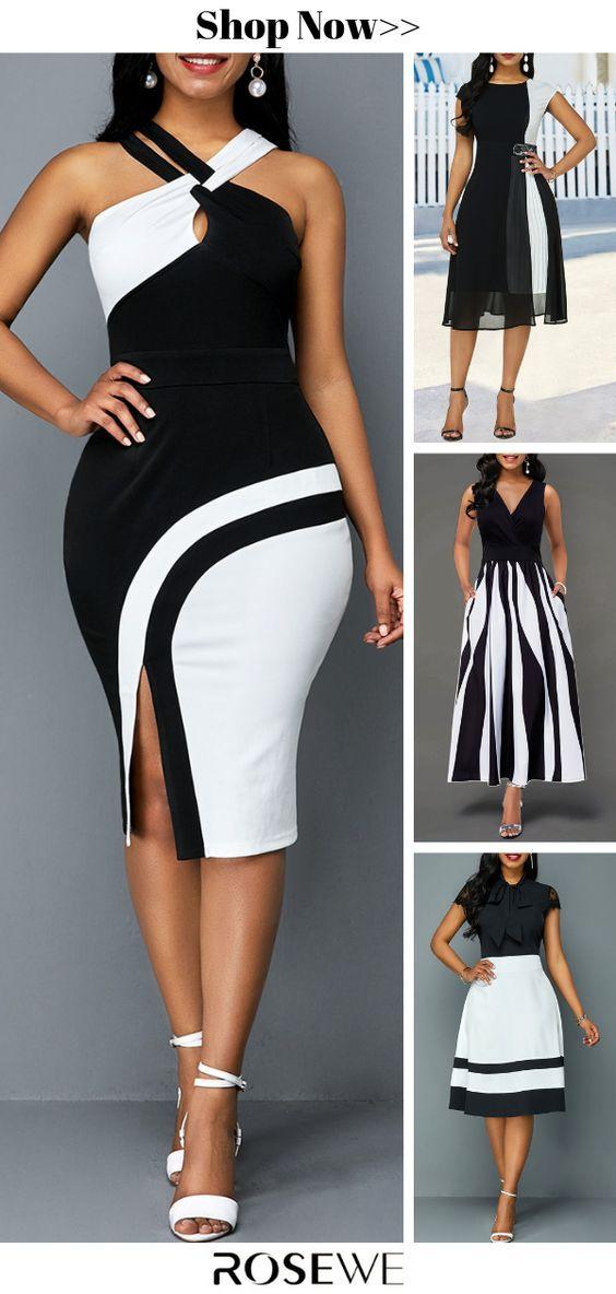 robe blanche et noire