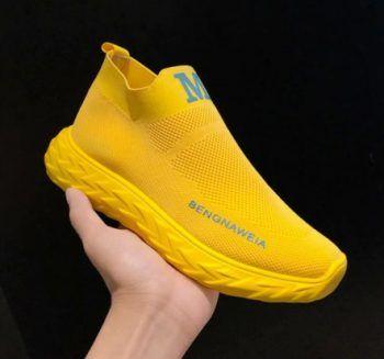 baskets jaunes fluos