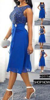 robe bleue royale