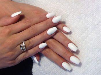 ongles blancs