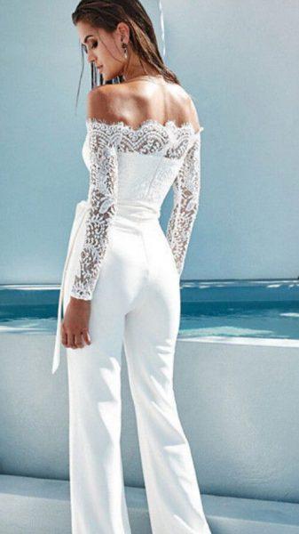 pantalon de mariée