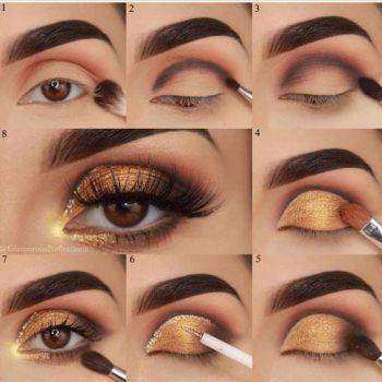 maquillage orange yeux