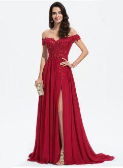 robe bal de promo rouge